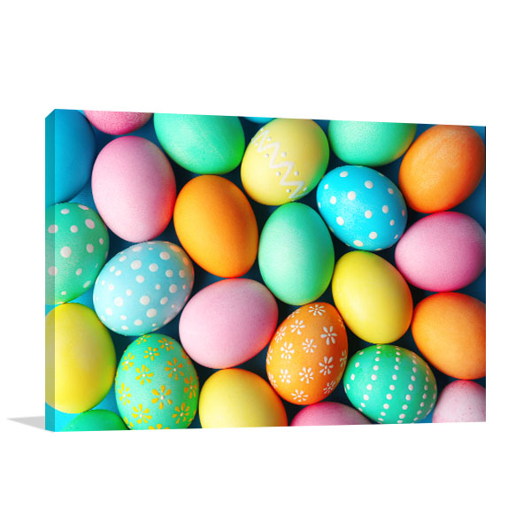 Colourful Easter Eggs Canvas Art Prints