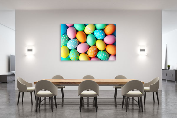 Colourful Easter Eggs Prints Canvas