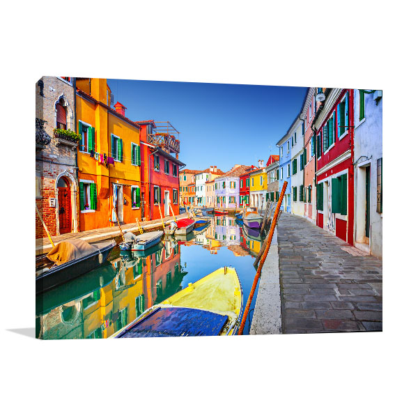 Colourful Houses Burano Canvas Prints