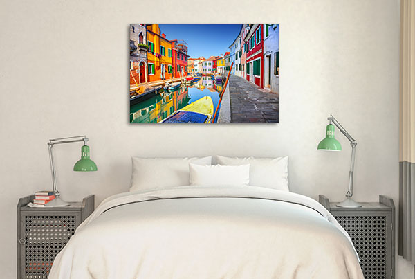 Colourful Houses Burano Wall Art