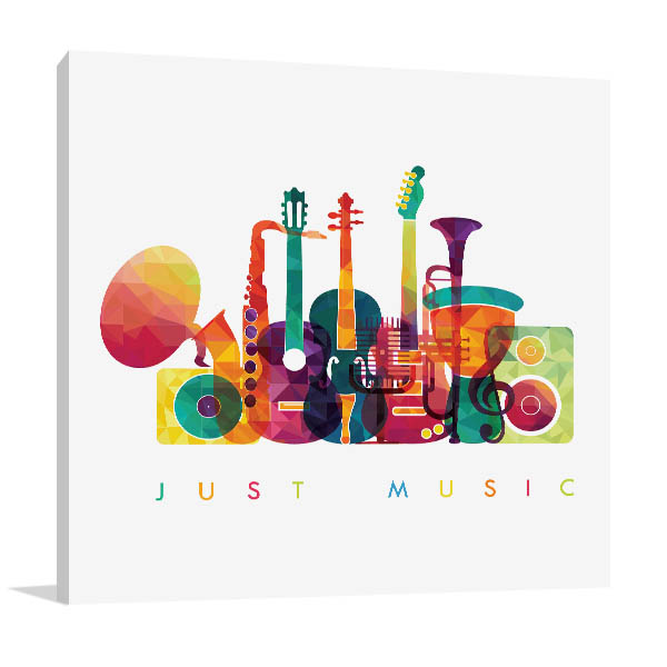 Colourful Music Prints Canvas
