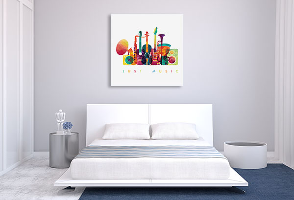 Colourful Music Canvas Prints