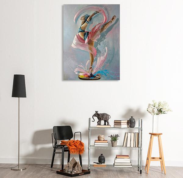 Colourful Splash Canvas Prints