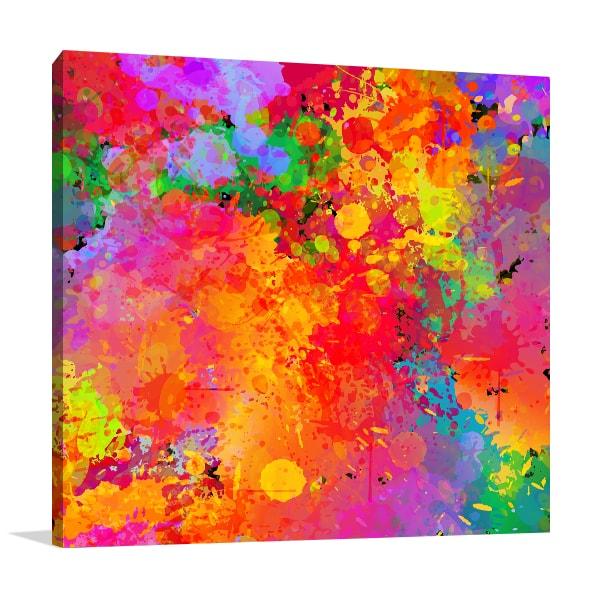 Colourful splash wall art colourful splash canvas prints