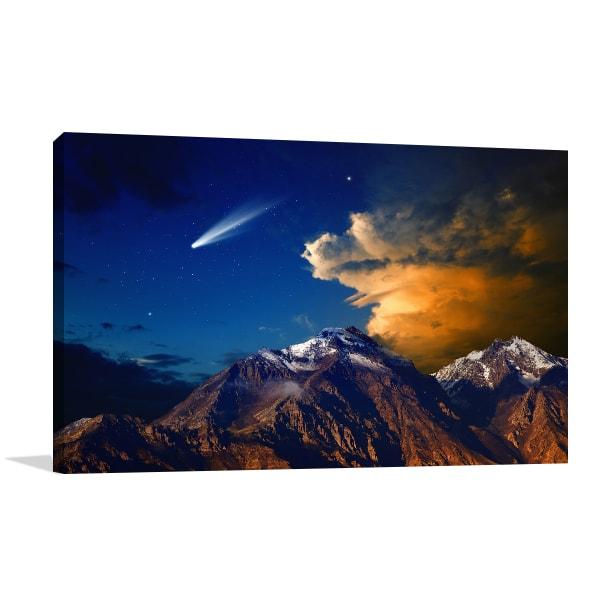 Comet View Canvas Art Prints