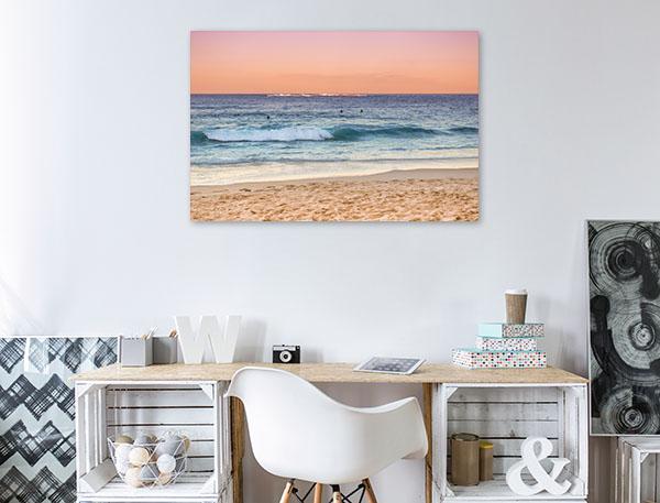 Coogee Beach Art Print Australia Sunset Canvas Art