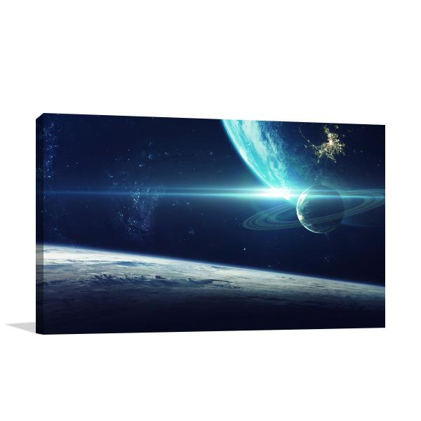 Cosmic Galaxy Canvas Art