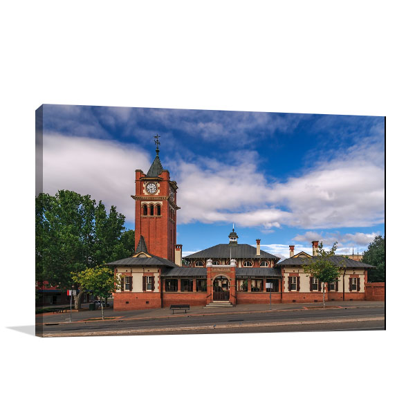 Courthouse Wagga Wagga Canvas Prints