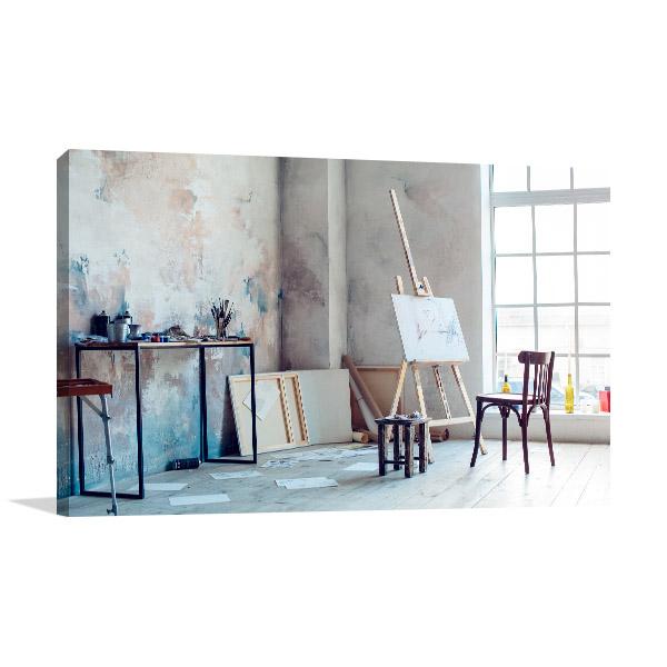 Creative Artist Workplace Canvas Prints