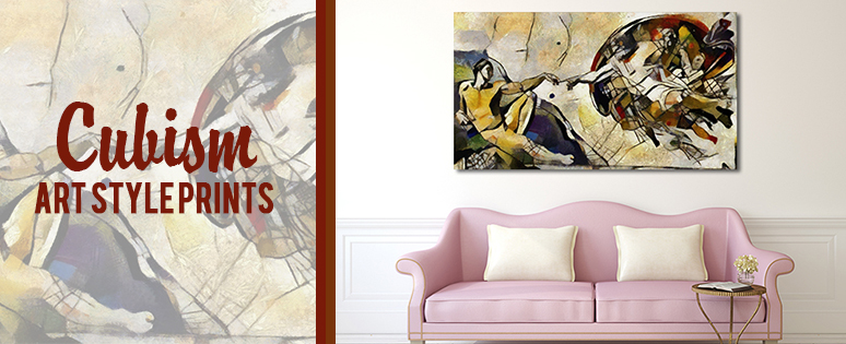 Cubism Art Style Prints On Bedroom Wall Decors