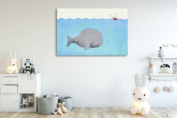 Cute Whale Canvas Art