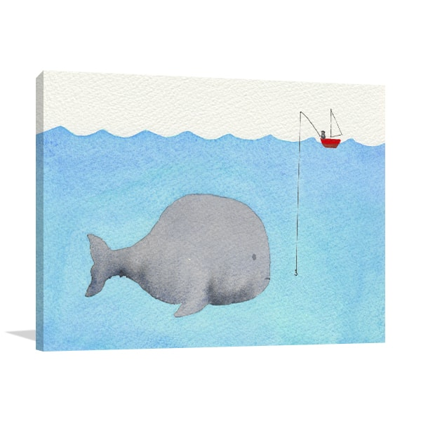 Cute Whale Wall Art