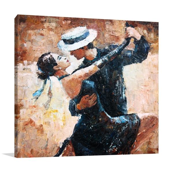 Dancer Lovers Canvas Art