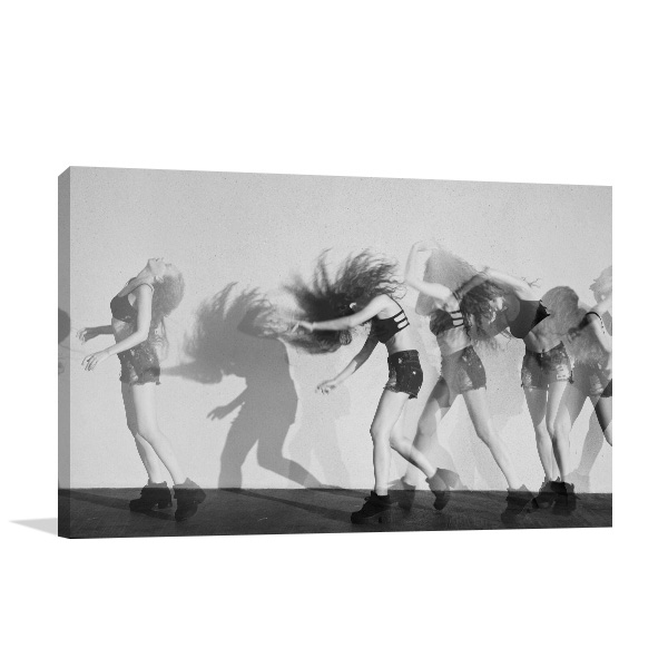 Dancing in Motion Canvas Art Prints