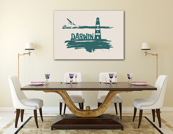 Darwin City Brush Canvas Prints