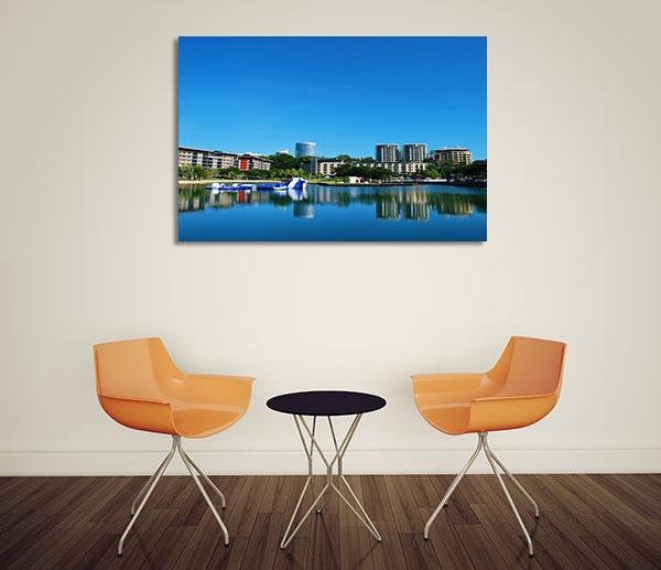 Darwin Waterfront Reflection Canvas Prints
