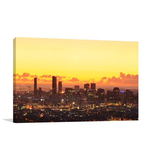 Dawn Brisbane City Canvas Art Prints