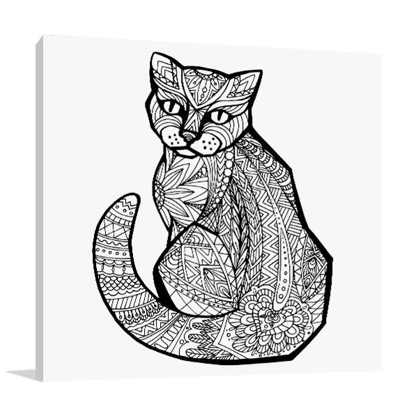 Doodle Cat Wall Art