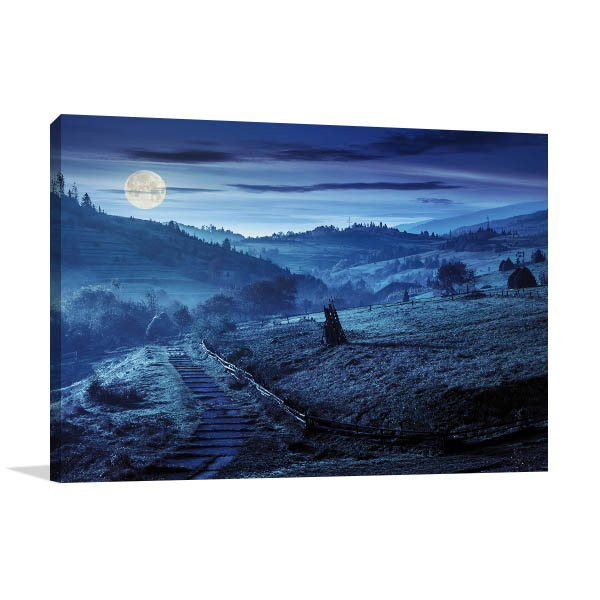 Down the Hill Prints Canvas