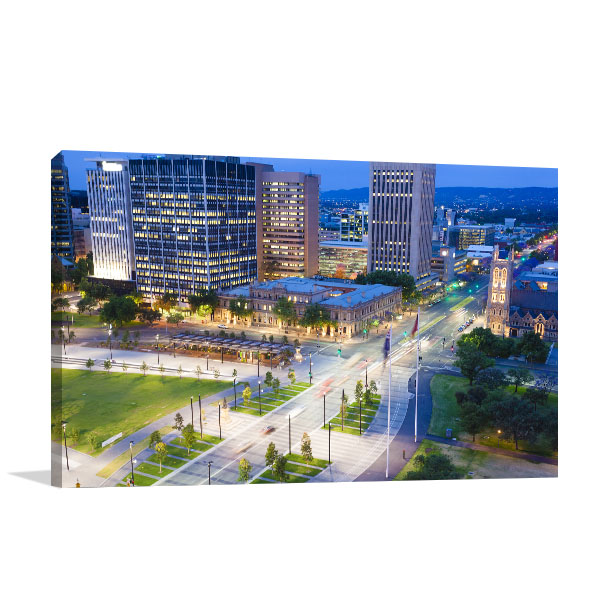 Downtown Adelaide Canvas Prints