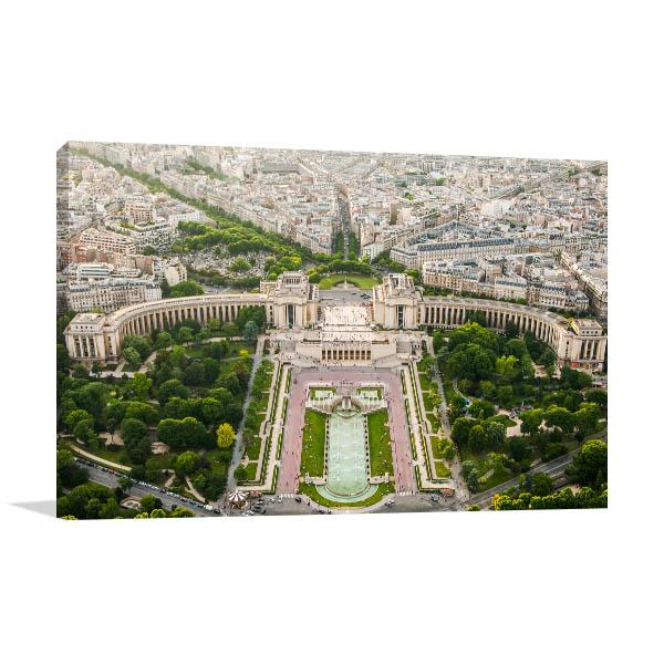 Eiffel Tower Top Paris View Art Prints