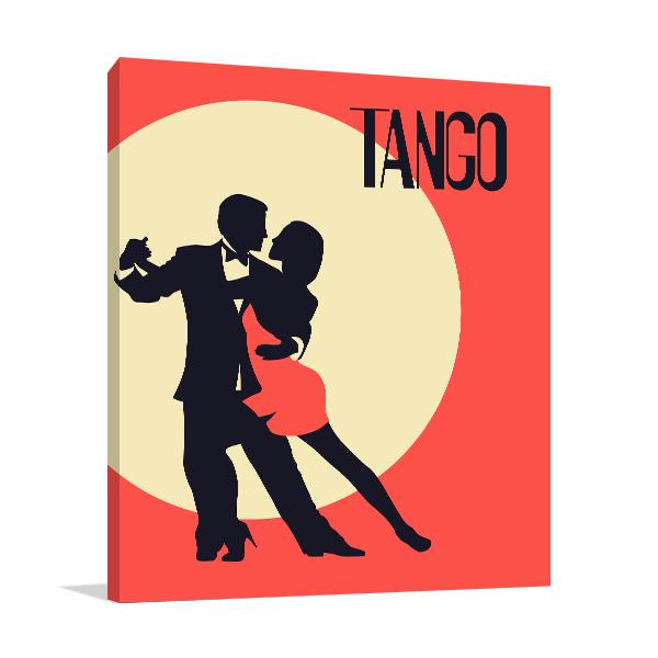 Elegant Couple In Tango Prints Canvas