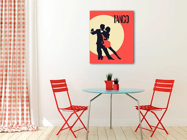 Elegant Couple In Tango Canvas Prints