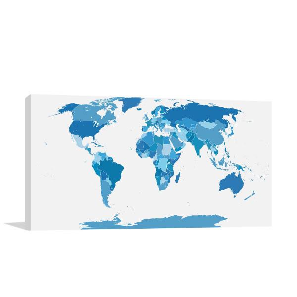 Elements World Map Canvas Art Prints