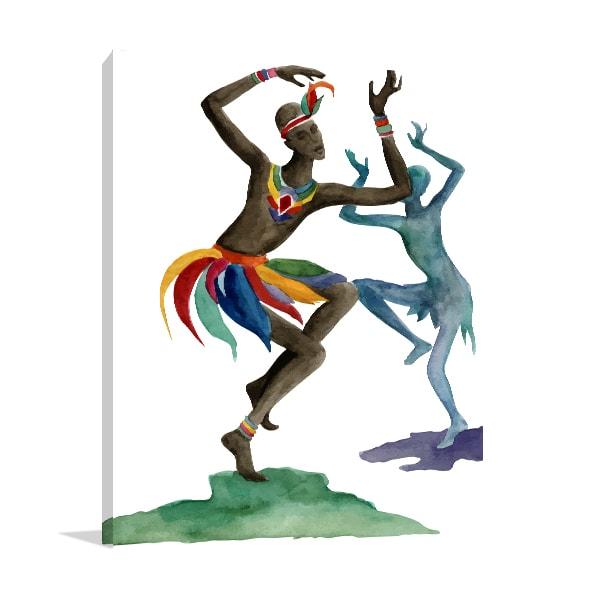 Ethnic Dance Canvas Prints
