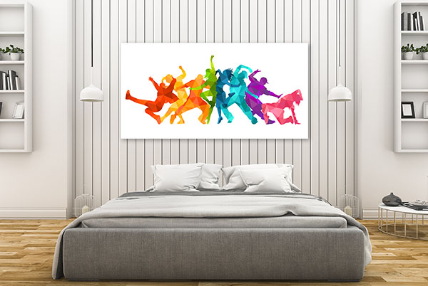 Expressive Dance People Prints Canvas