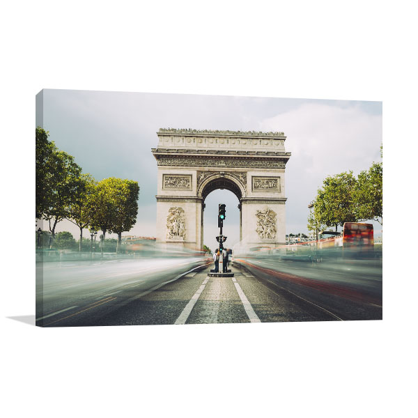Famous Landmark in Paris Canvas Art