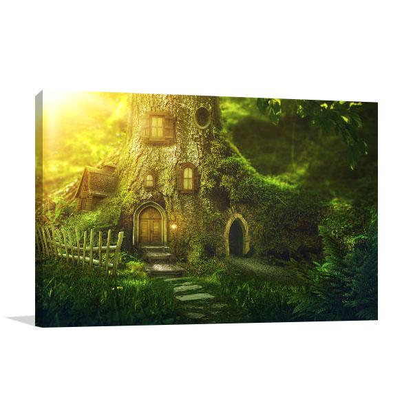 Fantasy Tree House Canvas Art Prints