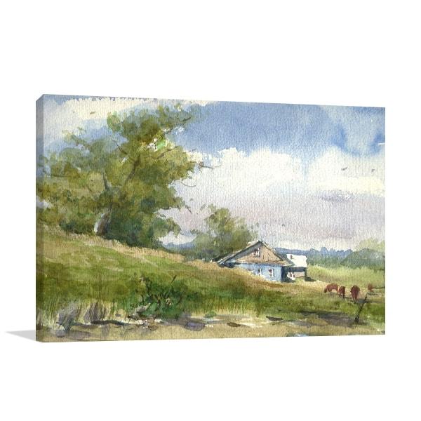 Farm House Canvas Art