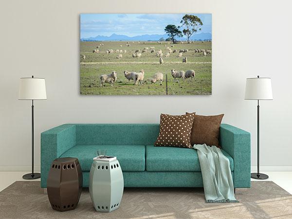 Farm in Rural Print Artwork