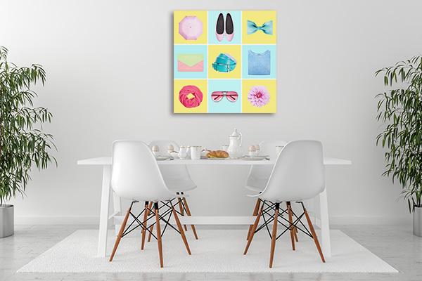 Fashion Blogger Concept Prints Canvas