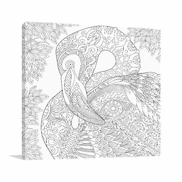 Flamingo Close-up Canvas Art