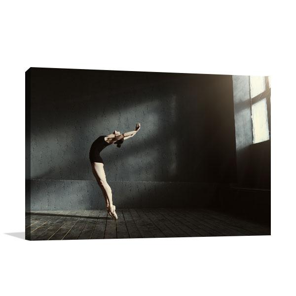 Flexible Ballet Dancer Canvas Art