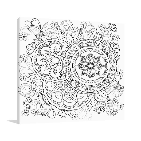Flowers and Mandalas Artwork