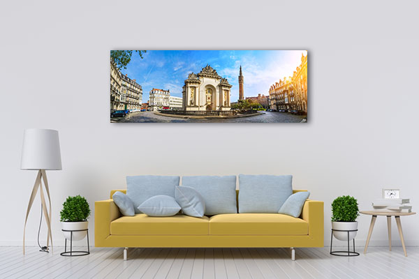 French City Lille with Belfry Canvas Art Prints