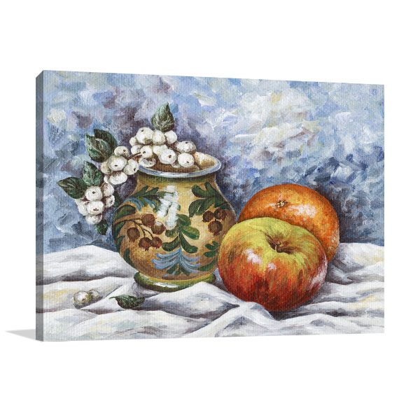 Fruits And Vase Art Prints