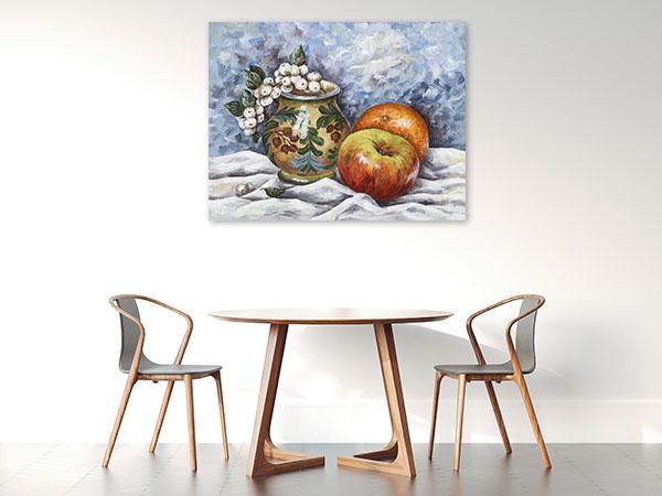 Fruits And Vase Print Artwork