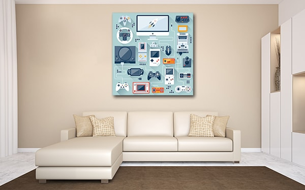 Game Console Prints Canvas