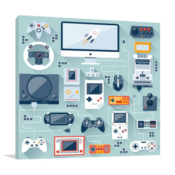 Game Console Print Artwork