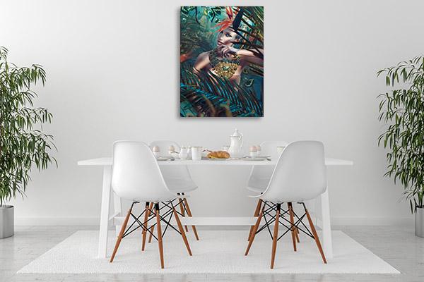 Glamorous Beauty Canvas Prints