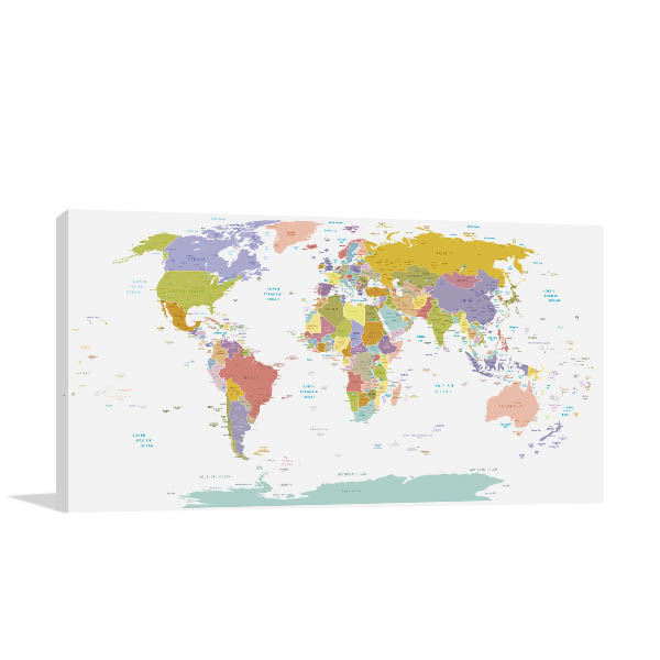 Global Map Art Prints