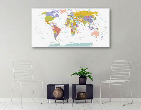 Global Map Canvas Prints