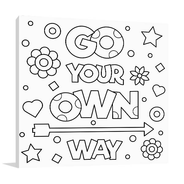 Go Your Own Way Canvas Art Prints