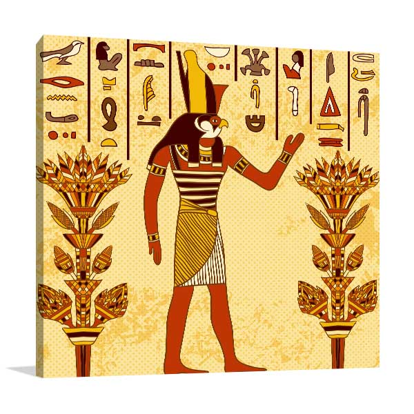 God of Ancient Egypt Art Print |Living Room Decor