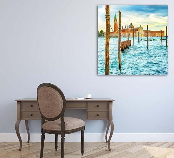 Gondolas Moorage Print Artwork on the Wall