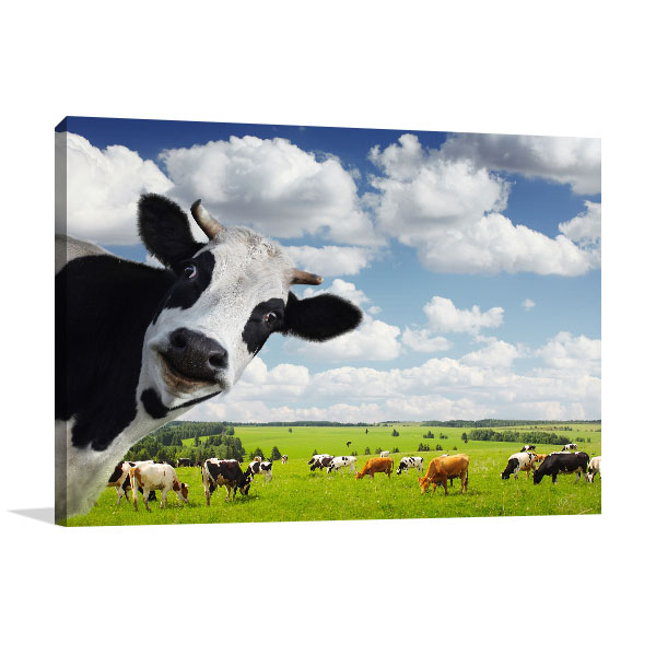 Green Rural Meadow Canvas Prints